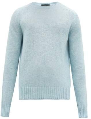 Prada Crew Neck Wool Sweater - Mens - Light Blue