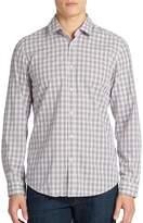 HUGO BOSS Men's Lok 2 Regular Fit Plaid Sportshirt