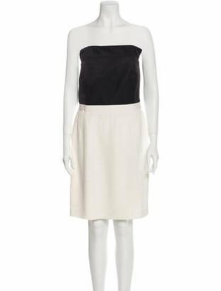 Lanvin Colorblock Pattern Mini Dress Black