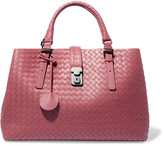 Bottega Veneta Roma Medium Intrecciato Leather Tote - Pink