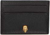 Alexander McQueen Black Skull Card Holder