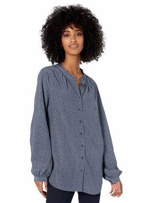 Goodthreads Amazon Brand Women's Viscose Sleeve-Interest Shirt
