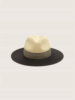 Addition Elle Colour Block Straw Fedora Hat
