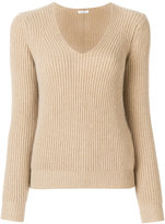 Max Mara ribbed v-neck jumper