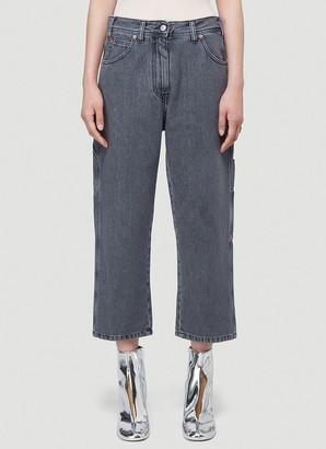 MM6 MAISON MARGIELA Cropped Straight Leg Jeans