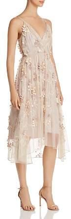 Elie Tahari Lisandra Floral Appliqué Dress