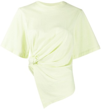 See by Chloe asymmetric ruched T-shirt
