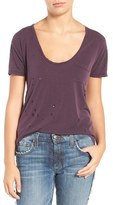 Joe's Jeans Gilles Destroyed Silk Blend Tee