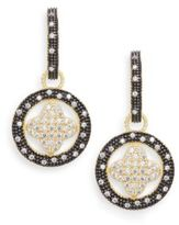 Freida Rothman Round Pavé Clover Drop Earrings