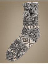 M&S Collection Fairisle Slipper Socks
