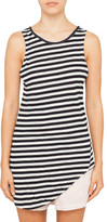 Bassike Stripe Htg Neck Scoop Hem Tank