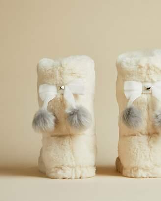 Ted Baker HAMMOND Faux fur slipper boots