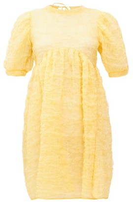 Cecilie Bahnsen Kane Cloud Crinkle-organza Dress - Yellow