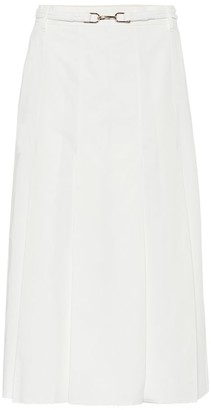 Gabriela Hearst Herbert belted cotton midi skirt
