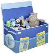 G.U.S. Kids Collapsible Toy Chest with Flip-Top Lid and Mesh Pockets, Large, Blue by Great Useful Stuff