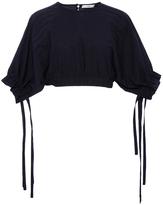 Tibi Seamed Cropped Shirt