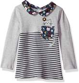 Mud Pie Baby Toddler Girls' Cat in Pocket Long Sleeve Tunic