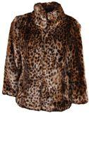 Michael Kors Leopard Print Fur Jacket