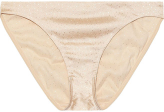Eres Univers Silk-blend Satin-jacquard Low-rise Briefs