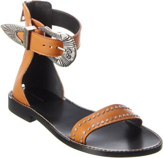 Zadig & Voltaire Ever Santa Fe Buckle Leather Sandal