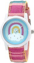 Sprout Women's ST/5531LBMT Rainbow Organic Cotton Strap Watch