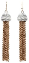 Lulu Frost 'Ursula' faux pearl chain tassel earrings