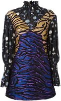 Kenzo 'Runway Tiger Stripes' dress - women - Silk/Acrylic/Polyamide/Wool - 36