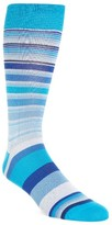 Bugatchi Men's Stripe Crew Socks