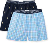 Ralph Lauren 8-20 Woven Boxer 2-Pack