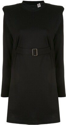 Maison Mihara Yasuhiro Shoulder Pad Belted Dress