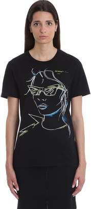 Off-White Off White Sunglasses Woma T-shirt In Black Cotton