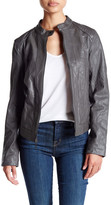 Cole Haan Genuine Leather Racer Jacket