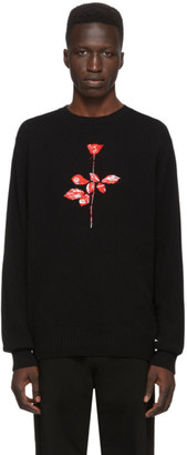 Noah NYC Black Depeche Mode Wool Rose Sweater