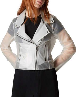 Blank NYC Plastic Zip-Up Moto Jacket