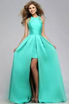 Faviana 7752e High low Jewel Neck A-line Dress