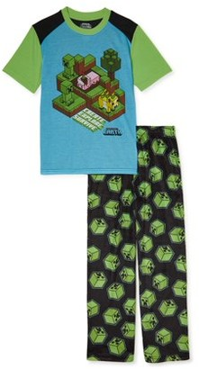Minecraft Boys Short Sleeve Pajama Set, 2-Piece, Sizes 4-16