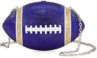 Judith Leiber Couture Team Blue & Gold Game Ball Clutch Bag