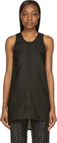 MM6 MAISON MARGIELA Black Linen Sleeveless Tank