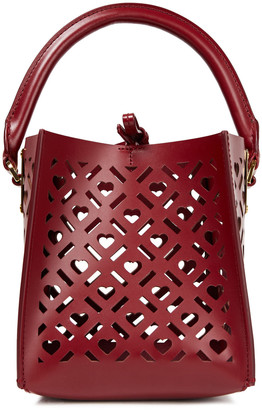 Sophie Hulme Albion Cube Nano Laser-cut Leather Tote