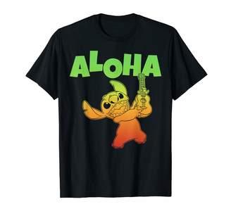 Disney Lilo & Stitch Aloha Ukulele Gradient Portrait T-Shirt
