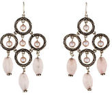 Stephen Dweck Rose Quartz & Pearl Chandelier Earrings