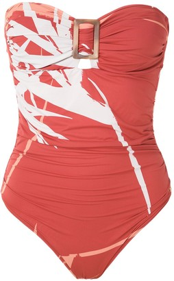 BRIGITTE Printed Halterneck Swimsuit
