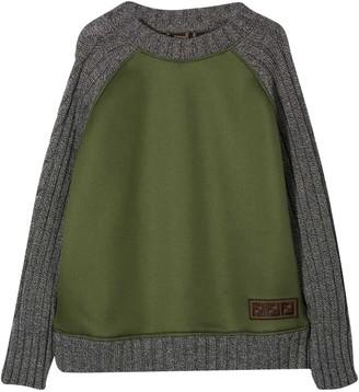Fendi Gray And Green Teen Sweatshirt