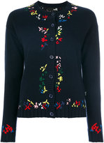 Love Moschino contrast trim round neck cardigan - women - Polyamide/Viscose/Cashmere/Wool - 38