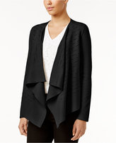Alfani Petite Slit-Detail Draped Cardigan, Only at Macy's