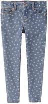 Joe Fresh Kid Girls' Floral Skinny Jean, Medium Wash (Size 6)