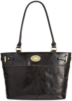 Giani Bernini Glazed Turnlock Tote, Only at Macy's