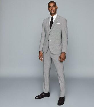 Reiss Caldwell Slim - Slim Fit Collar Bar Shirt in White