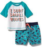 Old Navy Anchor-Graphic Rashguard & Swim Trunks Set for Baby