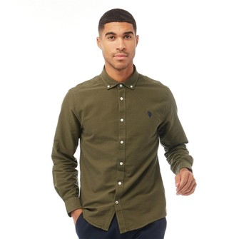 U.S. Polo Assn. Mens USPA Core Oxford Shirt Ivy Green
